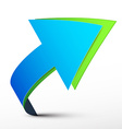 Blue and Green 3d Arrows - Logo Design Isolated on vector image vector image