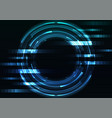 blue circle digital abstract pixel background vector image vector image