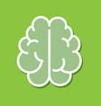 brain icon line outline art flat cartoon vector image