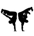 Break dancing vector image