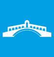 bridge icon white vector image