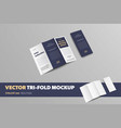 business brochure template with print colection vector image vector image