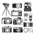 camera retro and modern digital and vintage vector image