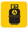 camping gas bottle icon flat icon isolated vector image vector image
