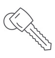 car key thin line icon auto and security unlock vector image