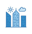 city building filled related icon vector image vector image