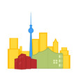 colored cityscape of toronto vector image vector image