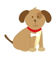 cute dog pet isolated icon vector image
