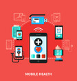 digital health gadgets flat poster vector image vector image