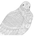 dove pigeon adult coloring page vector image