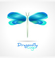 dragonfly flat icon with soft transition colors vector image vector image