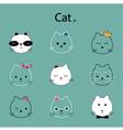 face cat cartoon vector image vector image