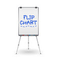 flip chart office whiteboard for business vector image vector image