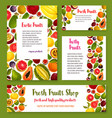 fresh exotic tropical fruit banners vector image vector image
