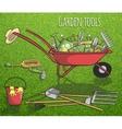 Garden tools concept poster vector image