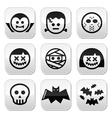 Halloween characters - Dracula Frankenstein mumm vector image vector image