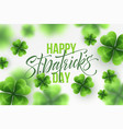 happy saint patricks day greeting lettering on vector image vector image