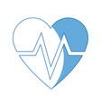 heart beat healthy medicinal cardiology symbol vector image vector image