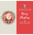 holiday card with funny santa claus vector image