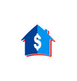 house dollar sold logo vector image