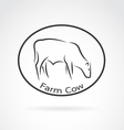 image of an cow in the circle vector image vector image