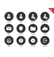 Internet account icons on white background vector image vector image