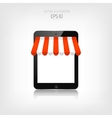 Internet shopping concept Realistic tablet E vector image vector image
