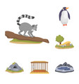isolated object of zoo and park icon collection vector image