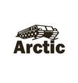 logo arctic snowmobile vector image vector image