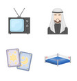 magic television and other web icon in cartoon vector image vector image