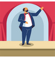 man singing on opera stage or classical concert vector image