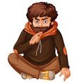 man with brown beard vector image