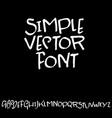 modern brush lettering handdrawn grunge ink font vector image vector image