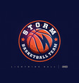 modern professional basketball logo for sport team vector image