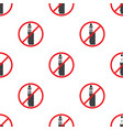 no vaping sign seamless pattern vape prohibited vector image vector image