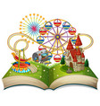 open book funpark theme vector image
