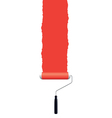 Paint roller red vector | Price: 1 Credit (USD $1)