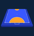 perspective view half field for futsal orange vector image