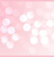 pink bokeh effect background vector image vector image