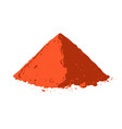 powdered pepperoni pile of red paprika vector image vector image