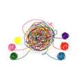 psychotherapy abstract color tangle mental vector image