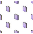 purple standing book icon in cartoon style vector image vector image
