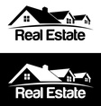 Real Estate logo design template House abstract vector image vector image