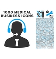 Reception Operator Icon with 1000 Medical Business vector image vector image
