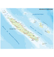 road map new caledonia french island group vector image