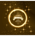 Round star frame with Merry Christmas vector image vector image