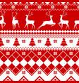 seamless christmas pattern - varied xmas deers vector image vector image