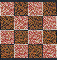 seamless pattern with ornament vector image vector image