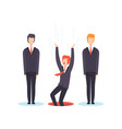 search the best person from group business vector image vector image