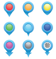 set blue circle pointers in colors r vector image vector image